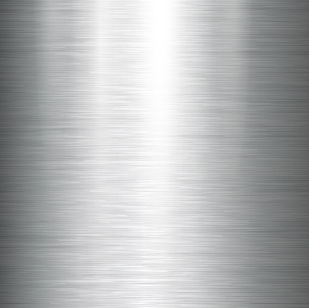 silver background: Vector polished metal, steel texture. Illustration
