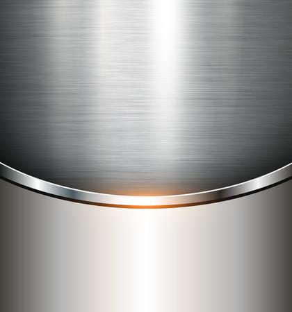 Fondo metálico textura de acero pulido, vector. Vectores