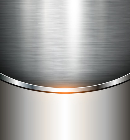 metales: Fondo metálico textura de acero pulido, vector. Vectores