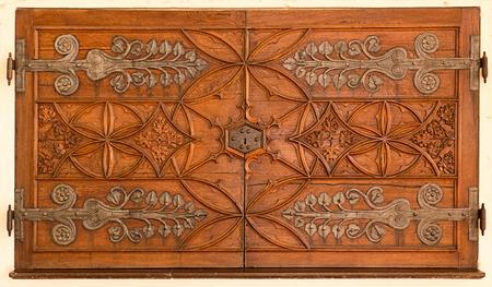 Old decorative wooden door photo