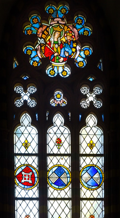 pauper: Medieval stained glass window, from Malbork castle, Poland.