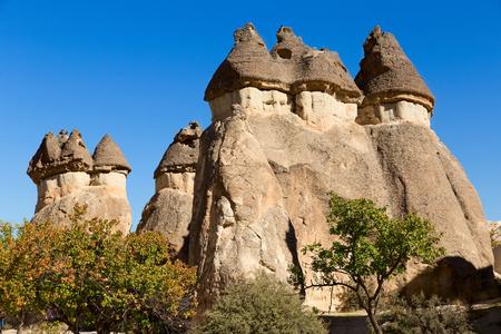 goreme: Cappadocia Turkey, volcanic rock landscape in Zelve Valley