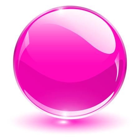 esfera de cristal: Esfera de cristal, vector de la bola rosa.