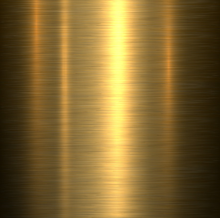 in reflection: Metal background, gold brushed metallic texture plate.