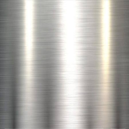 磨かれた金属板テクスチャ鋼の金属の背景。