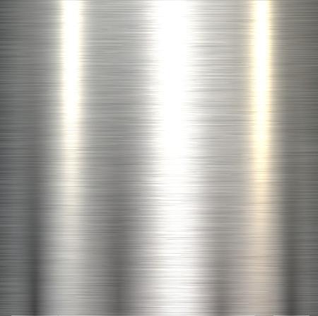 Steel metal background polished metallic plate texture .