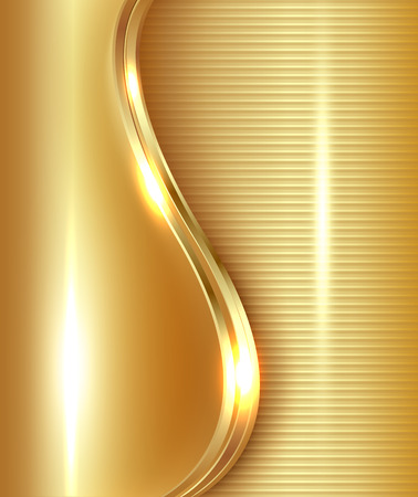 Abstract gold background illustration. Vector