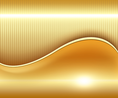 Gold abstract background, elegant and  soft vector illustration. Vector