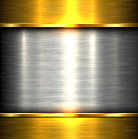 Metal plate texture polished metal background, vector illustration.