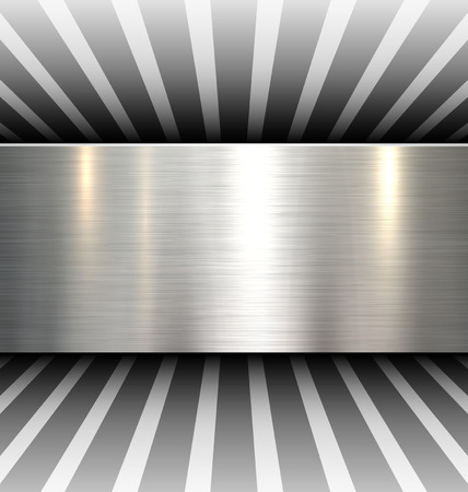 Background 3d with metal texture, vector.