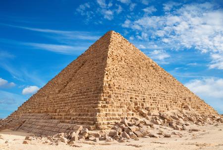 giza: Pyramid of Khufu, Giza. Stock Photo