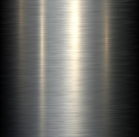 Steel metal background brushed metallic texture with reflections. Vector