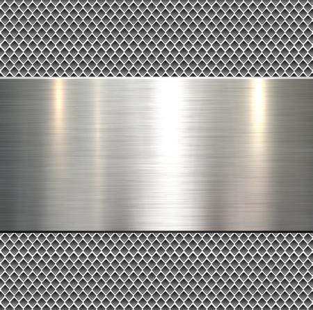 Fondo, textura de metal pulido, vector.