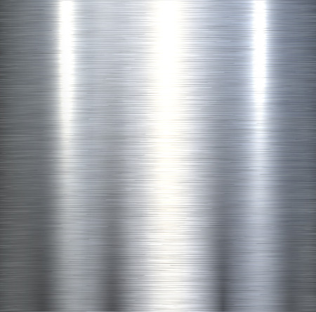 Steel metal background brushed metallic texture with reflections.