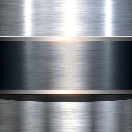 brushed steel: Metal plate texture polished metal background, vector illustration.