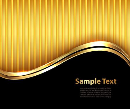 ビジネスの背景、エレガントなゴールドと黒、ベクトル イラスト