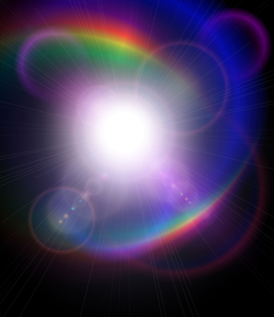 astral: Vector star, sun with lens flare. Illustration