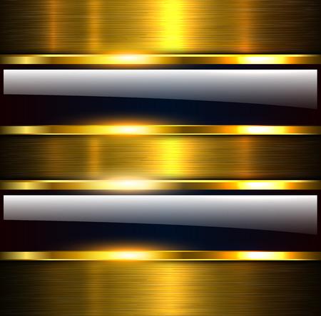 抽象的な背景光沢と光沢のある金色の金属、ベクトル イラスト。  イラスト・ベクター素材