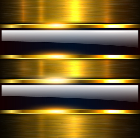 Abstract background glossy and shiny gold metallic, vector illustration.