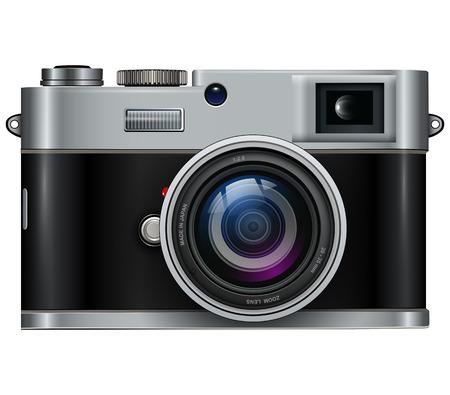 reflex camera: retro photo camera Illustration