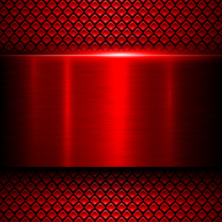 Background red metal texture, vector illustration. Vector