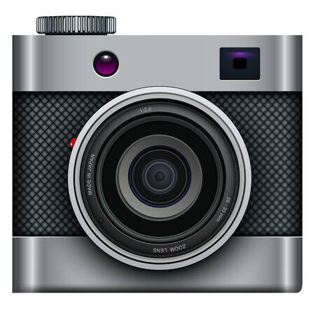Photo camera icon - vintage, retro vector design. Vector