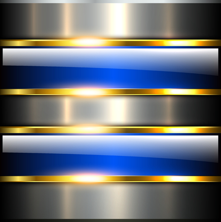 blue metallic background: Abstract background glossy and shiny blue metallic, vector illustration.