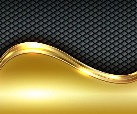 Zakelijke gouden achtergrond, vector illustratie. Stock Illustratie