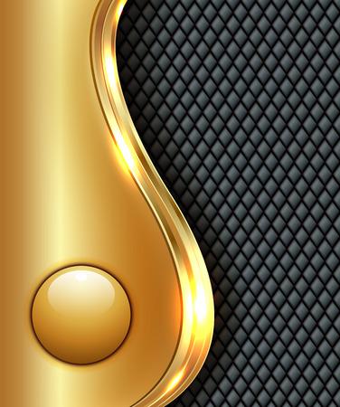 Business gold background, vector illustration.