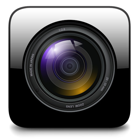 reflex: Photo camera icon, vector design.
