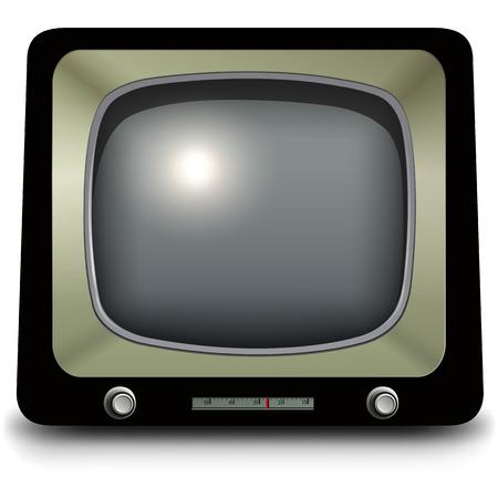 pal: Old tv, vintage vector illustration. Illustration