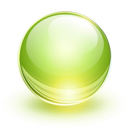 esfera de cristal: Esfera de cristal, vector de la bola verde.