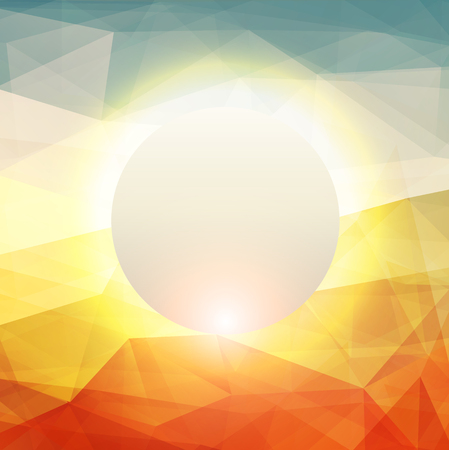 warm: Abstract background with glowing sun, warm texture design