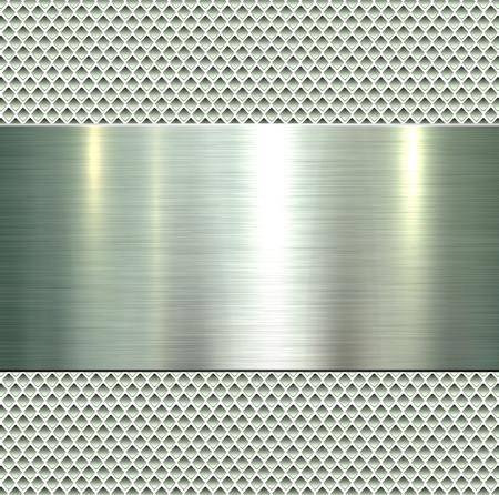 Background, polished metal texture, vector. Illusztráció