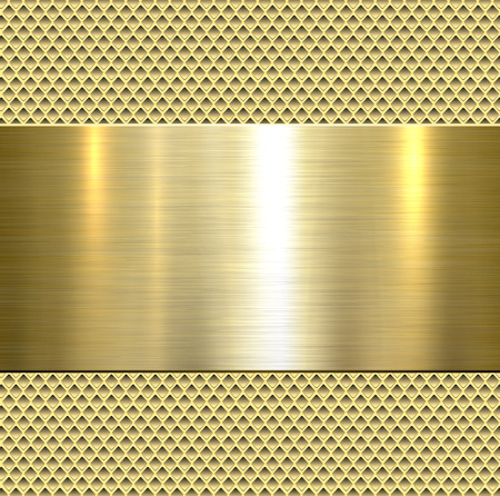 Background, polished metal texture, vector. Stock Illustratie