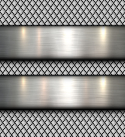 Polished metal background, vector steel plate texture.