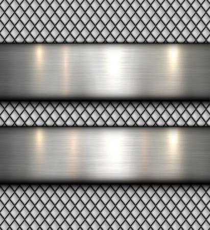 Gepolijst metaal achtergrond, vector stalen plaat textuur.