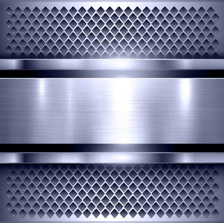 polished: Background, polished metal texture, metallic vector illustration. Illustration