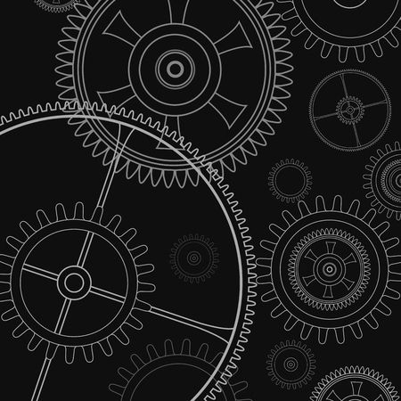 Background technology with gears and cogwheel, vector illustration. Illustration