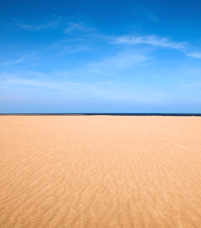 grand strand: Empty beach scene as nature background Stock Photo