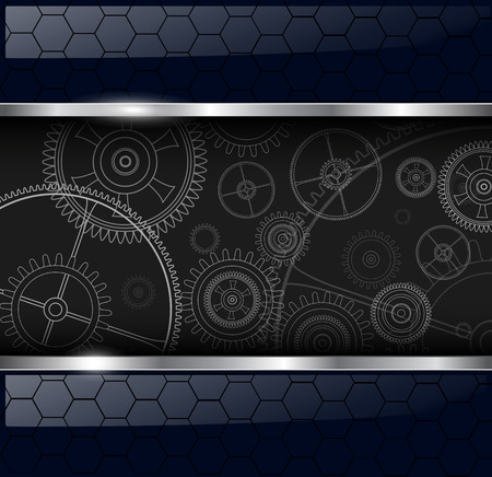 rackwheel: Abstract background with technology machine gears, vector illustration.