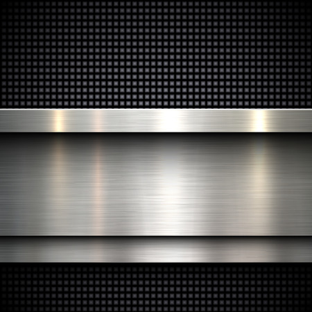 brushed aluminum: Abstract metal template background design, vector illustration Illustration