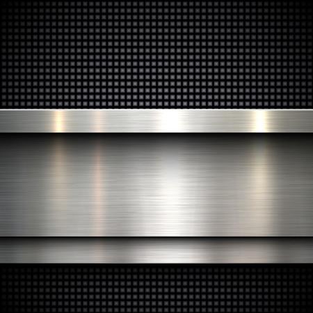 metales: Diseño abstracto fondo de la plantilla de metal, ilustración vectorial