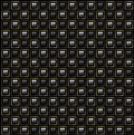 background abstract square pattern vector black design. Illustration