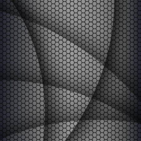 Background with hexagons pattern texture, abstract vector background.