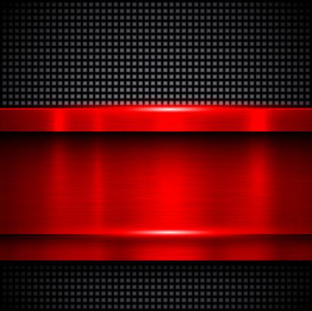 fondo rojo: Antecedentes textura del metal rojo, ilustración vectorial.