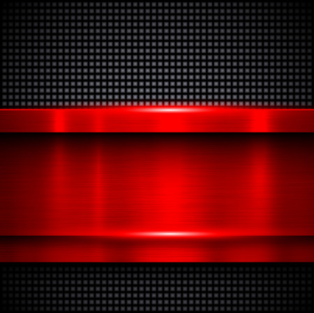 shiny metal: Background red metal texture, vector illustration.