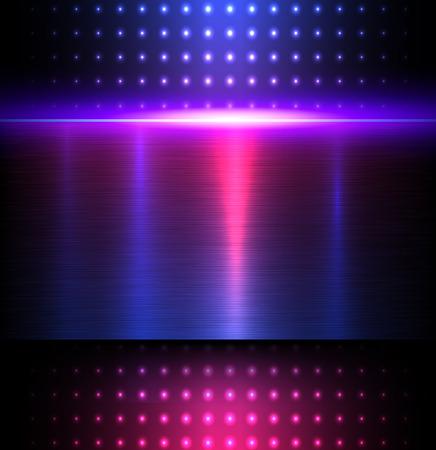 Achtergrond blauwe metalen textuur, vector illustratie. Stock Illustratie