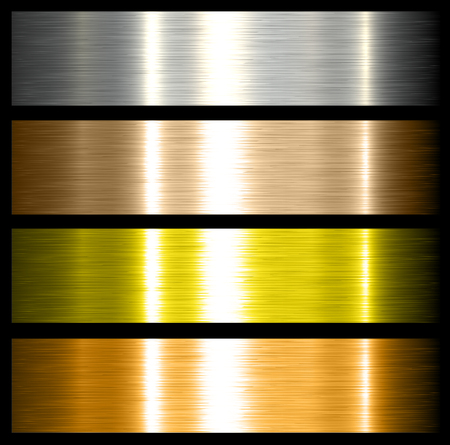 metales: antecedentes de metal cepillado texturas metálicas con reflejos.