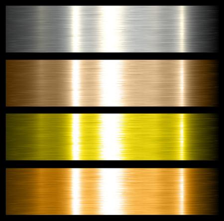 metal achtergronden geborsteld metalen structuren met reflecties.